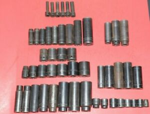 50 Snap On Mac Matco 3 8 1 2 Drive Standard Metric Impact Socket Set Lot