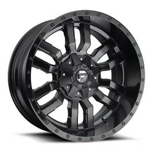 4 New 22 Fuel Sledge D596 Wheels 22x12 5x5 5 5x150 44 Matte Black Rims