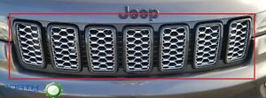 2017 2020 Jeep Grand Cherokee Gloss Black Mopar Front Grille Trim Ring Kit Oem