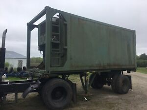 20 Foot Refrigerated Military Container With Easy Drop commect Transport Trailer