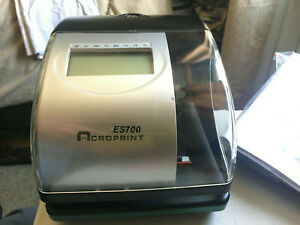 Acroprint Es700 Time date Employee Time Clock