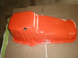 Mid 70s Original Chevrolet Engine Oil Pan 350 Cu In V8 Cleaned And Painted