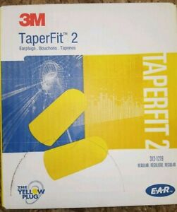 200pk 3m Taperfit 2 Disposable Non corded Ear Plugs Free Shipping