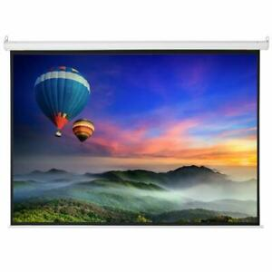 100 4 3 Material Foldable Electric Motorized Projector Screen 80x60 Remote