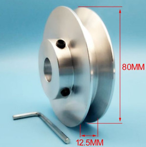 1pc Od80mm Hole Dia15mm V groove Step Pulley For 1 2 V Rubber Belt Select