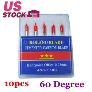 10packs 60 Degree Small Roland Vinyl Cutter Compatible Blades N Grade 5pcs Pack