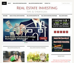 Real Estate Investing Affiliate Website Business For Sale Automatic Content