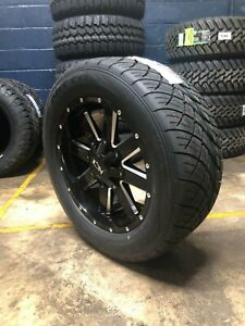 20x9 Ion 141 305 50r20 Nitto Nt420s Wheels Rims Tires 6x5 5 Chevy Suburban