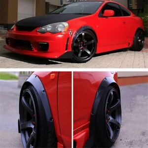 Universal 4pcs Pp 2 50mm Fender Flares Over Wide Body Wheel Arches Auto Car Kit
