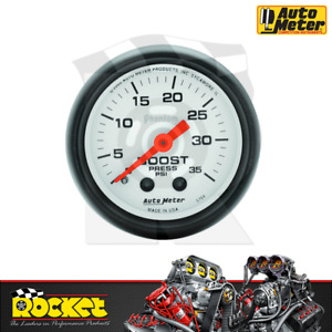 Auto Meter Phantom 2 1 16 Boost Gauge 0 35psi Au5704