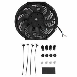 14inch Slim Push Pull Electric Radiator Cooling Fan 12v Mount Kits Universal My
