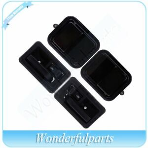 4pcs Outer Inner Door Handles Front Left Right Side Fit 97 06 Jeep Wrangler