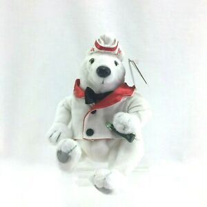 Vintage 1993 Coca-Cola Polar Bear in Serving Jacket & Hat with Tags Style #0274
