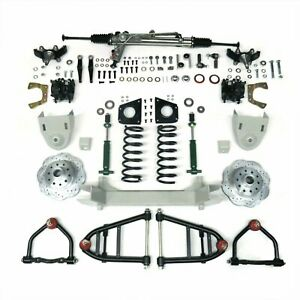 1955 1959 Chevy Truck Mustang Ii Front Suspension Power Rack 2 Drop Spin