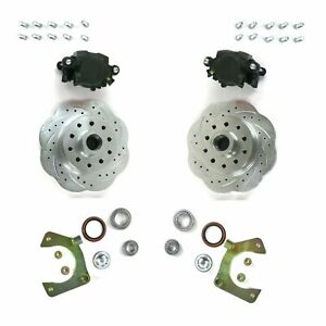 Mustang Ii 2 Front Disc Brake Kit With 11 Plain Ford Rotors No Spindles