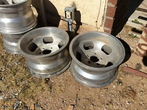 2 Vintage 15x8 1 2 Shelby Cal 500 Slot Mag Wheels Chevy 5x4 3 4 Bolt Pattern