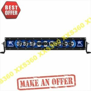 Rigid Industries 20 Led Light Bar Broad Spot Radiance Plus Blue Backlight