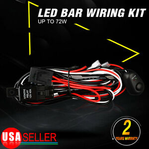 Wiring Harness Switch Relay Kit For Connect 2 Led Work Driving Light Bar 0w 72w