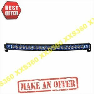 Rigid Industries 40 Curved Led Light Bar Radiance Plus Blue Backlight