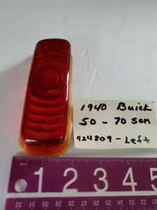 Nos 1940 Buick Roadmaster Tail Light Lens Left