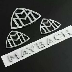 Set Maybach Fender Side Rear Trunk Emblem Badge Amg For Mercedes Benz S Class