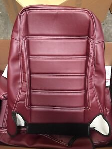 2007 2010 Jeep Wrangler Jku Burgundy W White Stitching Seat Covers Overlay