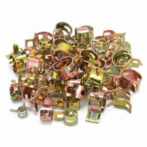 80 Pcs Vacuum Fuel Hose Pinch Spring Clip Clamp Kit Pack Clip Clamps 5mm 14mm As