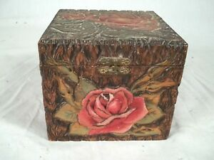 Flemish Art Co Carved And Painted Trinket Box