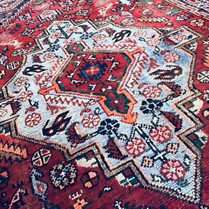 C 1940 Stunning Antique Vintage Exquisite Hand Made Rug 4 2 X 6 5