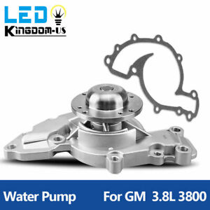 Water Pump With Gasket For Gm 3 8l 3800 V6 96 99 Olds Aw5075 1301780 58531 G1780