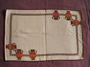 1157 Beautiful Vintage Embroidered Table Runner 45cm 30cm 18 X12