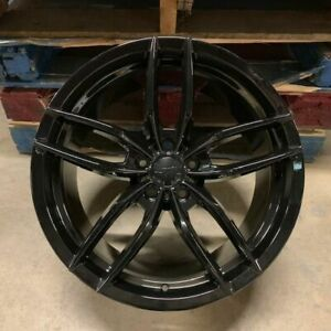 19 Gloss Black Voss Style Staggered Wheels Rims Fits 2015 Ford Mustang