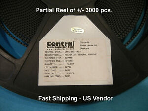 Central Semi 1 0 Amp 600v Smt Silicon Diode Rectifier cmr1 06m Reel Of 3000