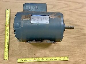 Westinghouse 1 1 2hp Single Shaft Electric Motor 1725rpm 115v 1 Phase K56h Frame