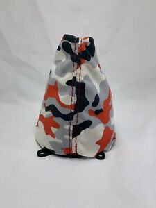 Fits 2006 11 Honda Civic Si Red White Black Camo Print Suede Shift Boot