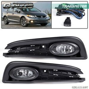 Driving Bumper Fog Lights Wiring Lamps Kit Switch For 13 15 Honda Civic 4d