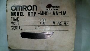 Omron Stp mnd aa ua Synchronous Motor Timer 10s 120v 60hz free Shipping