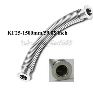 Ss304 Kf25 nw25 Flange L 1500mm 59 05 Inch High Vacuum Flexible Bellow Hose