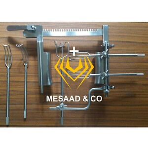 Cooley Cosgrove Mitral Valve Retractor Complete Set Orthopedic Surgical A