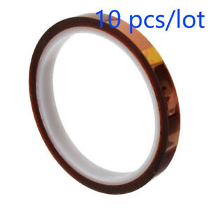 10pcs 3d Sublimation Heat Resistance Proof Kapton Tape For Transfer 8mm X 100ft