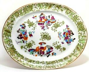 Rare 19th C Antique Chinese Kangxi Period Lg Famille Verte Charger W Butterflies