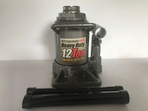 New Pittsburgh Automotive 12 Ton Hydraulic Low Profile Heavy Duty Bottle Jack