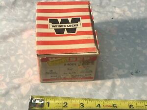 Vintage Nos Weiser 840dl Deadlocking Latch Gate Lock Deadbolt Satin Bronze