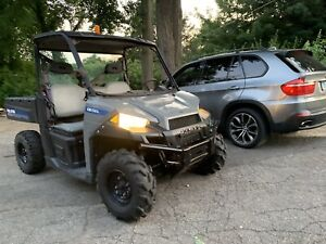 2014 Polaris Brutus Diesel Side By Side Ac Heat Power Dump 4x4 Loaded Yanmar Utv