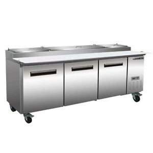 Maxximum Mxcpp92hc 94 Pizza Prep Table Refrigerated Counter