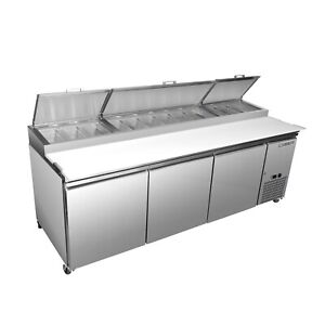 Maxximum Mxspp92 94 Pizza Prep Table Refrigerated Counter