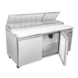 Maxximum Mxspp70 71 Pizza Prep Table Refrigerated Counter