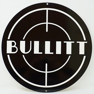 Ford Mustang Bullitt Logo Heavy Duty Steel Metal Sign Ford Licensed large