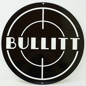 Ford Mustang Bullitt Logo Heavy Duty Steel Metal Sign Ford Licensed small