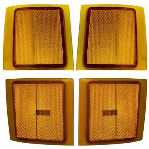 Fit For 1994 1995 1996 1997 1998 Cv Silverado Front Side Marker Amber Set